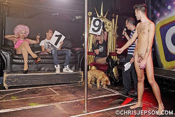 from Carmelo idol contestant dances in gay bar